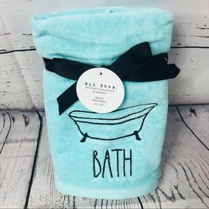 Rae Dunn BATH bathtub Hand Towels Set of 2 NWT